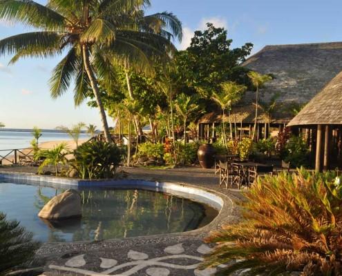 Le Lagoto Resort Savaii, Samoa - Exterior at Sunset
