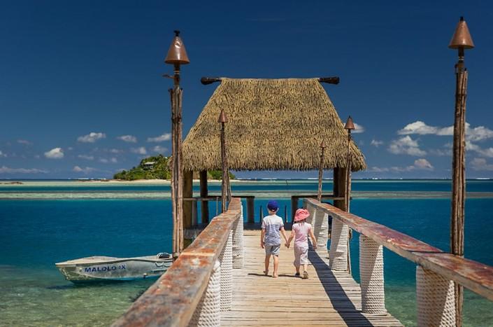 Malolo Island Resort, Fiji - Kids On Pier