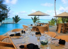 Nautilus Resort Luxury Villas Cook Islands - Dining Poolside