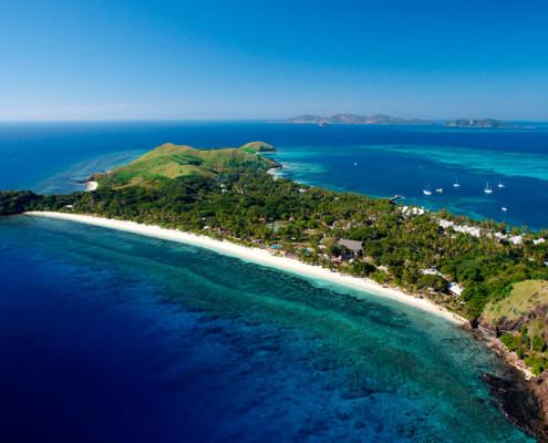 Mana Island Resort - Aerial