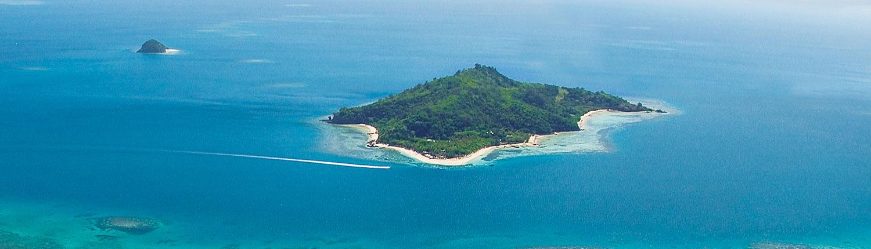 Castaway Island Fiji - Aerial Shot