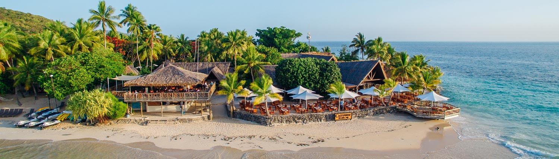 Castaway Island Fiji - Aerial Resort View