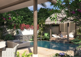 Auberge Beach Villas at Nanuku Fij I - Outdoor Courtyard with Plunge Pool