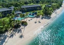 Shangri-La's Fijian Resort - Aerial Pool View