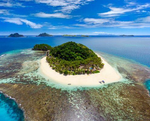 Matamanoa Island Resort, Fiji - Aerial View