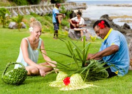 Matamanoa Island Resort Fiji - Weaving
