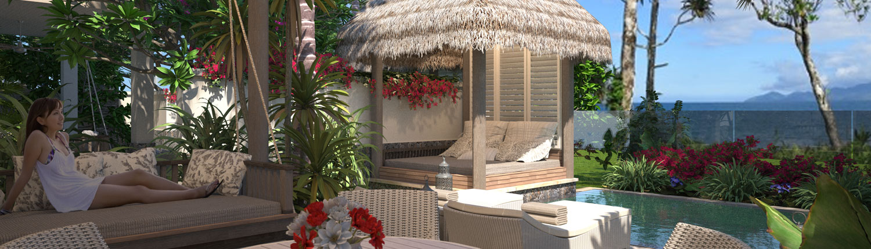 Nanuku Auberge Resort Fiji - Auberge Beachfront Villa Pool Deck