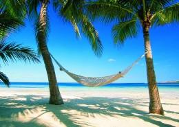 Plantation Island Resort Fiji - Hammock on the beach