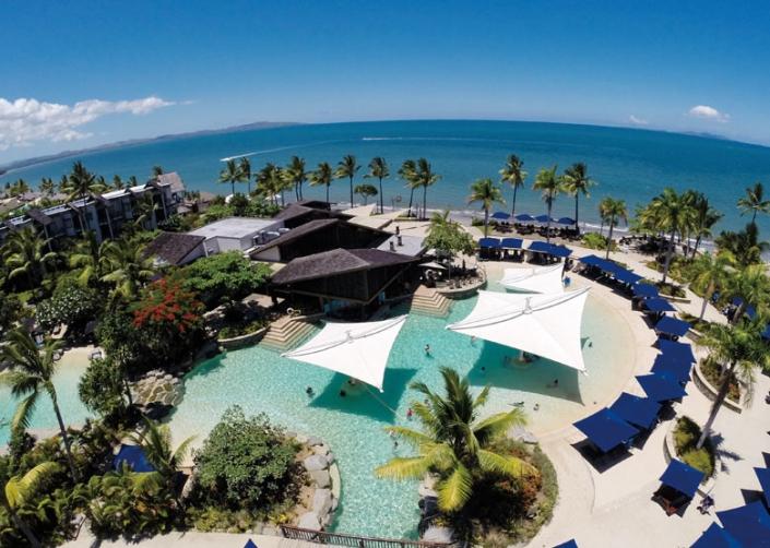 Radisson Blu Resort, Fiji - Resort Pool Aerial View