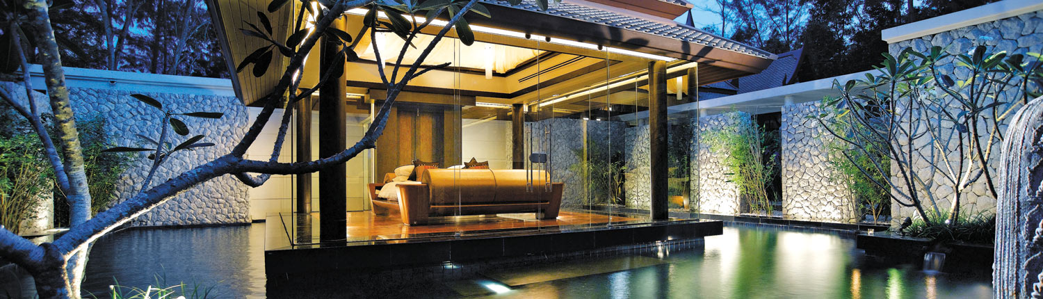 Banyan Tree Phuket, Thailand - Double Pool Villa Night View