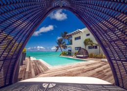 Crystal Blue Lagoon Luxury Villas Cook Islands - View From Day Bed
