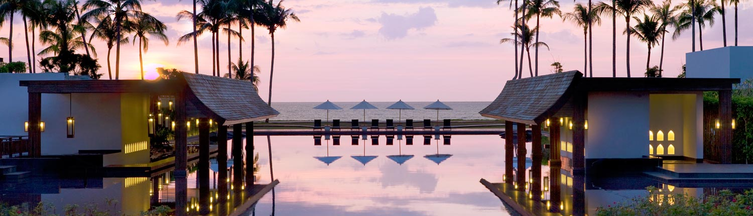 JW Marriott Khao Lak Resort & Spa Thailand - Pool at Sunset