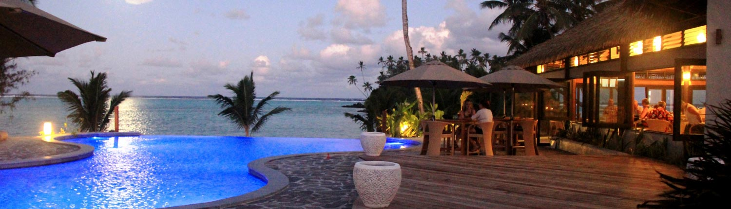 Nautilus Resort Luxury Villas Cook Islands - Pool & Restaurant