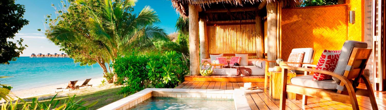 Likuliku Lagoon Resort, Fiji - Deluxe Beachfront Bure Plunge Pool