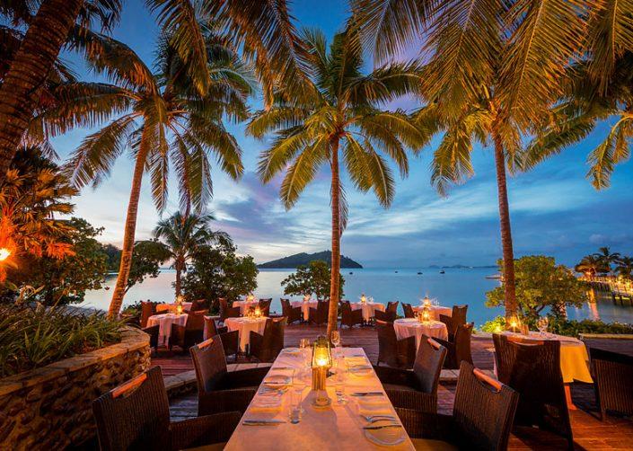 Likuliku Lagoon Resort, Fiji - Fijiana Restaurant Outdoor Terrace