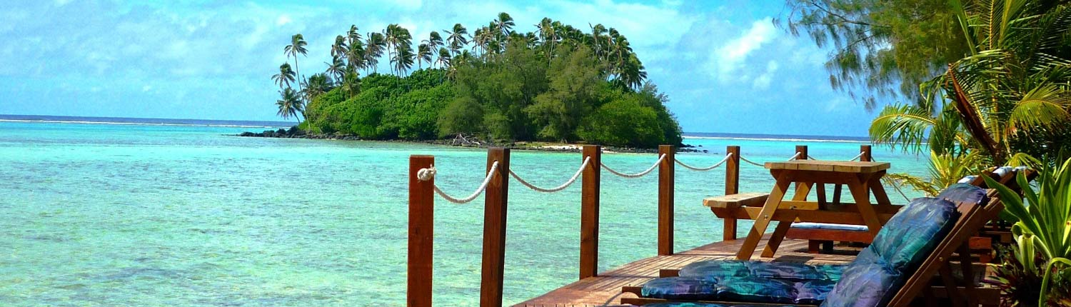 Muri Beach Resort Cook Islands - Overlooking Taakoka Island