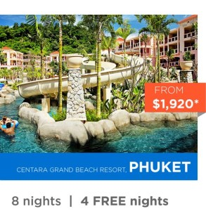 Centara Grand Beach Resort - Phuket 2015 Holiday Deals for School Holidays