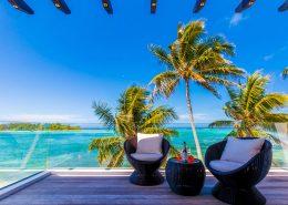 Crystal Blue Lagoon Luxury Villas Cook Islands - Deck Views