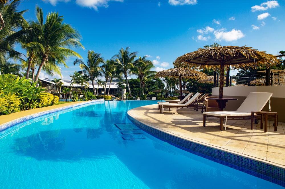 Iririki Island Resort Vanuatu Sunset Pool Island Escapes Holidays