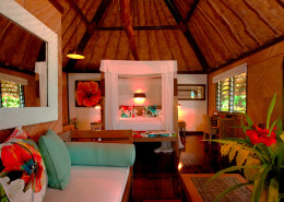 Qamea Resort & Spa Fiji - Beach Bure Interior