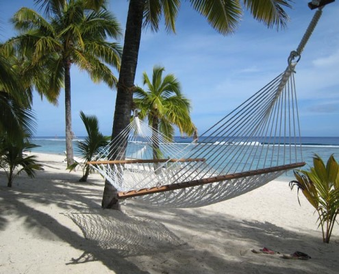 Sunset Resort Cook Islands - Beach Hammock