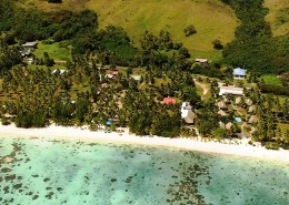 Tamanu Beach Cook Islands - Aerial View