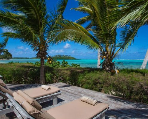 Te Manava Luxury Villas & Spa, Cook Islands - Presidential Beachfront Villa Deck