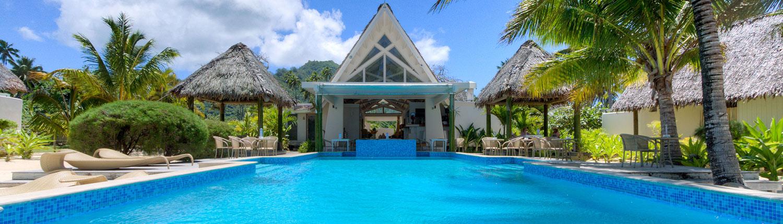 Little Polynesian Resort, Cook Islands - Pool & Restaurant Area