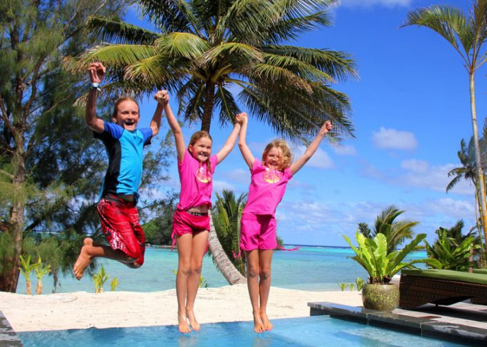 Nautilus Resort Luxury Villas, Cook Islands - Pool fun