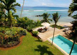 Taveuni Palms Resort Fiji - Beach Villa Pool Deck