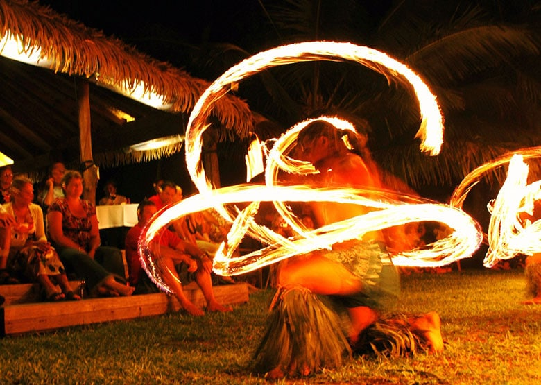 Aitutaki Tamanu Fire Dancers - Cook Islands