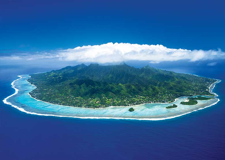 Rarotonga Aerial Shot - Explore the Island in A Day or Two - Photo Credit: David Kirkland