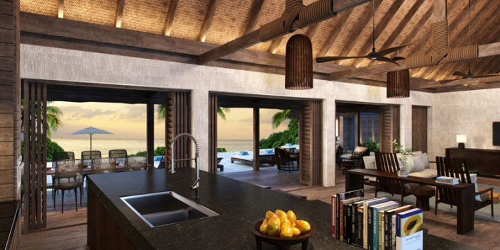 Beachfront Pool Residence - Interior - Six Senses Fiji
