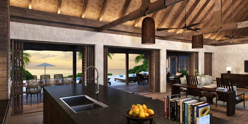 Beachfront Pool Residence - Interior - Six Senses Fiji