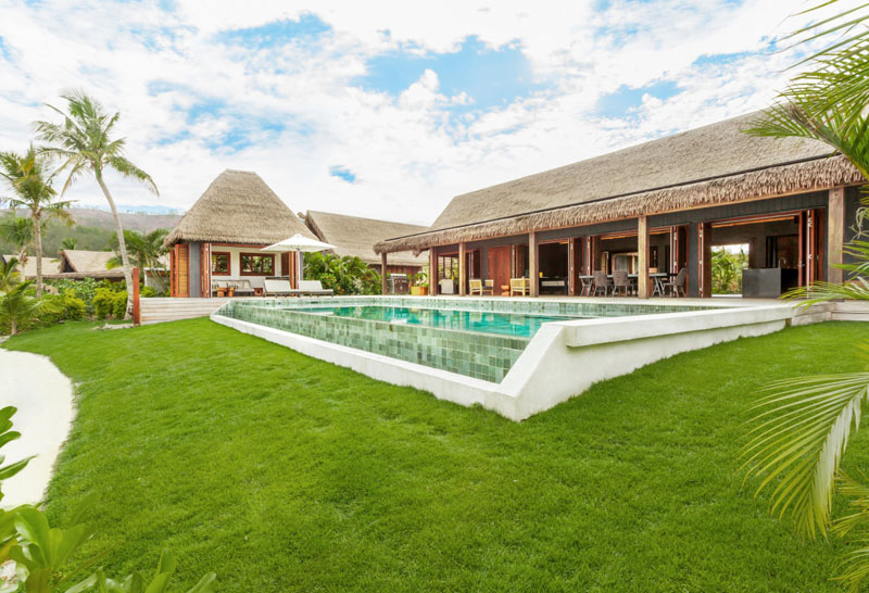 Beachfront Residence with Pool House - Six Senses Fiji