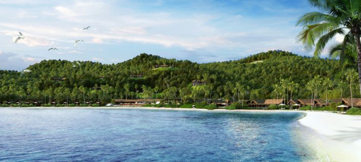 Beach Expanse View - Six Senses Fiji