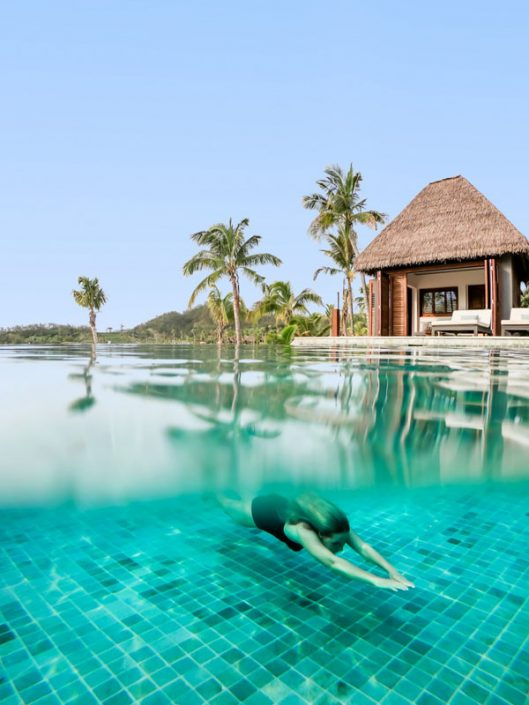 Residence Pool and Beach House - Six Senses Fiji