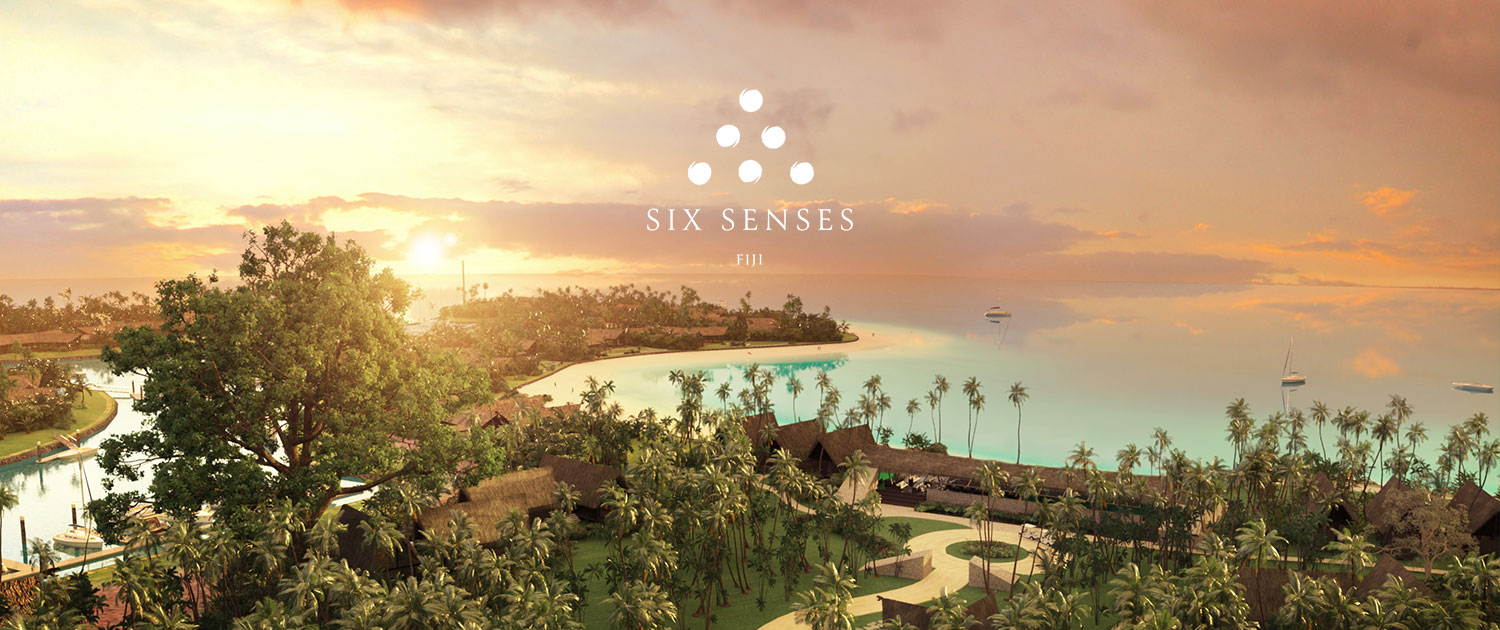 Resort Aerial View - Six Senses Fiji