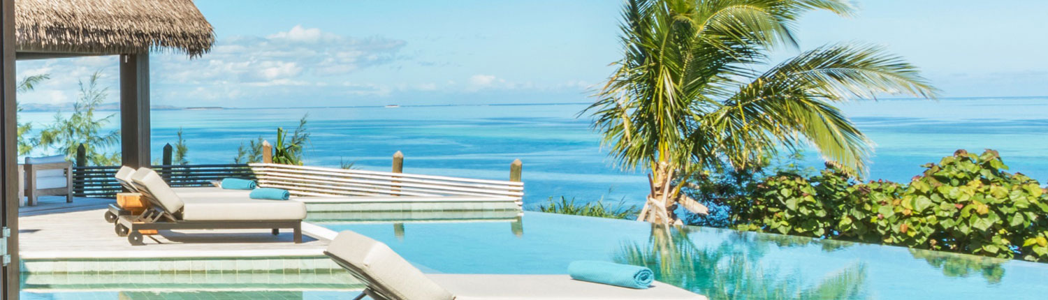 Six Senses Fiji - Fiji Luxury Holiday Homes - 4 Bedroom Residence - Pool Deck View