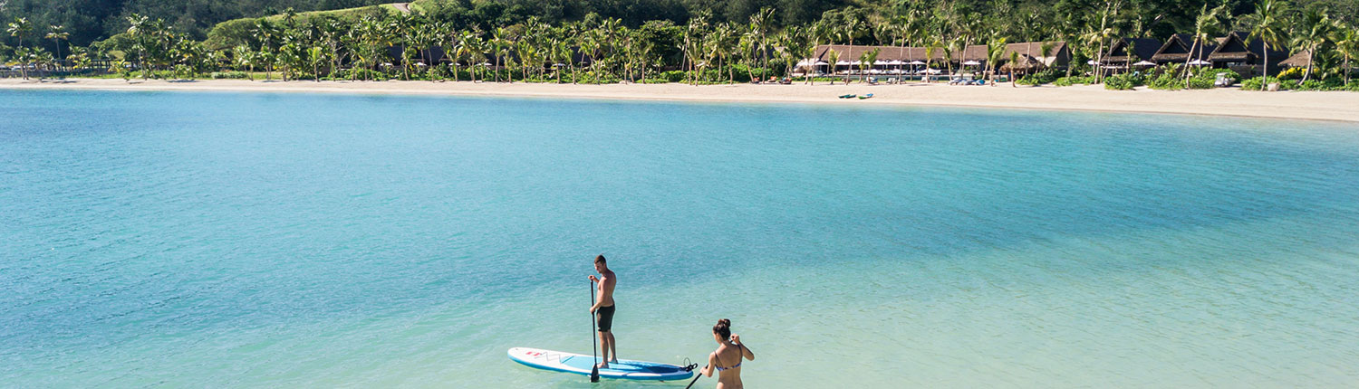 Six Senses Fiji - Luxury Fiji Resort - Paddleboarding just off shore