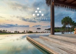Sunset over Residence Pool - Six Senses Fiji