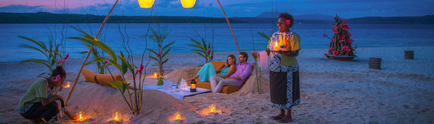 The Havannah, Vanuatu - Beach Dining