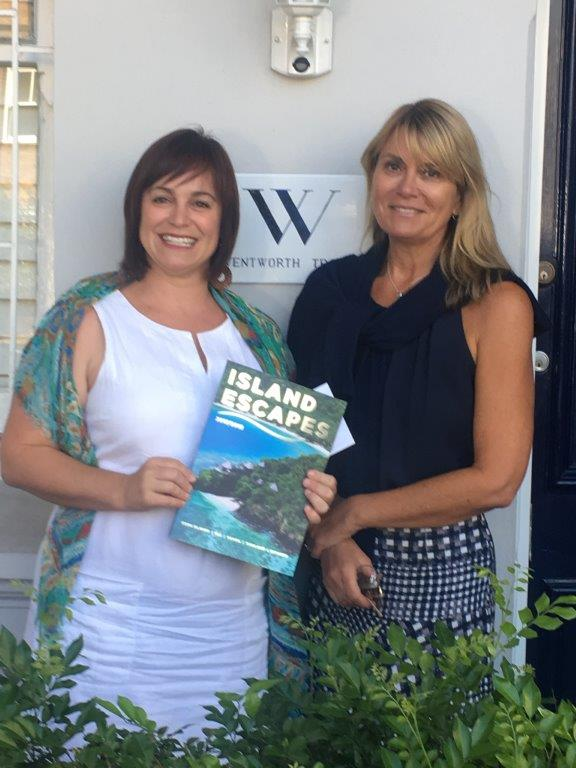 Angela Doyle - Wentworth Travel. With Dana from Island Escapes