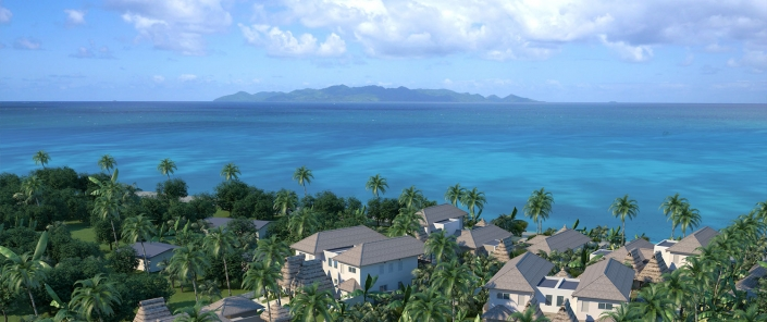 Auberge Beach Villas at Nanuku Fiji - Aerial View