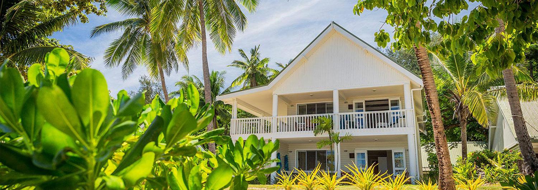 Malolo Island Family Bure - 2 Storey Exterior with Garden surrounds