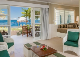 Malolo Island Family Bure - Interior with Ocean View