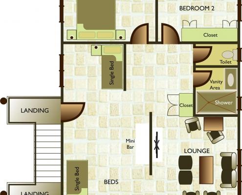 Malolo Island Fiji - Bure 28 - Floor Plan