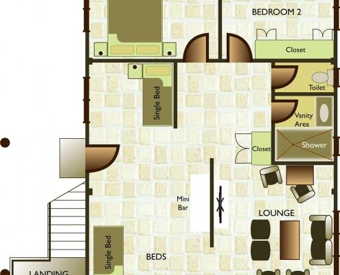 Malolo Island Fiji Family Bure - Bure 27 Floor Plan