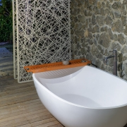 The BeacHouse Vomo - Outdoor Bath - Fiji Luxury Holiday Home
