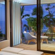 The BeacHouse Vomo - View Outdoors from Master Bedroom - Fiji Luxury Holiday Home